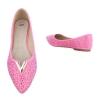 Декорирани ежедневни обувки Seastar Shoes в цвят фушия