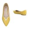Декорирани ежедневни обувки Seastar Shoes в цвят горчица