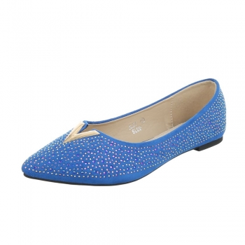 Декорирани ежедневни обувки Seastar Shoes в наситено синьо