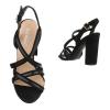 Стилни сандали с кръстосани каишки Belle Woman в черен цвят