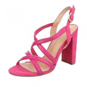 Стилни сандали с кръстосани каишки Belle Woman в цвят фушия
