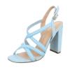 Стилни сандали с кръстосани каишки Belle Woman в светло син цвят