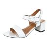 Ежедневни сандали с нисък ток MERMAID в бял цвят