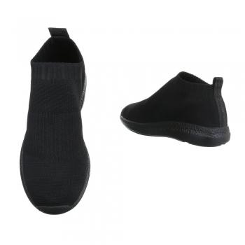 Спортни дамски обувки черен текстил