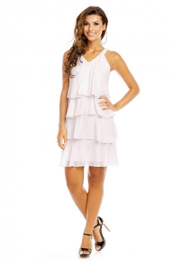 Многопластова рокля Mayaadi в бяло