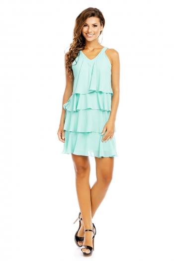 Многопластова рокля Mayaadi в цвят мента
