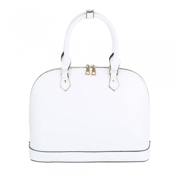Бизнес дамска чанта в бял цвят