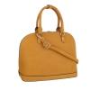 Бизнес дамска чанта в цвят горчица