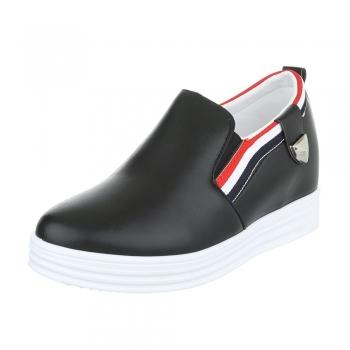 Ежедневни обувки от еко кожа в черно