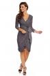 Изключителна дантелена рокля Mayadii в сив цвят