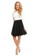 Двуцветна рокля с дълъг ръкав Mayadii в черно и бяло
