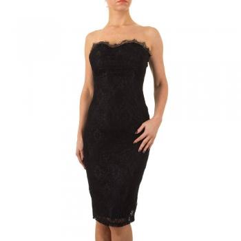 Класическа черна рокля без презрамки Marc Angelo