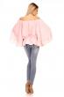 Блуза с широки ръкави и перли Luzabelle в розово