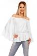 Блуза с широки ръкави и перли Luzabelle в  бял цвят