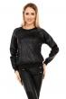 Блуза имитация кожа Sophyline в черно
