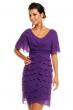Многопластова шифонена рокля Mayaadi в лилав цвят