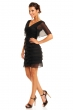 Многопластова шифонена рокля Mayaadi в черно