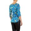 Дамска блуза с флорален десен KL в лазурно синьо