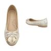 Балеринки Coura с панделка с блестящ ефект в сребрист цвят с златен нюанс