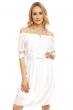 Ежедневна рокля в бяло LA