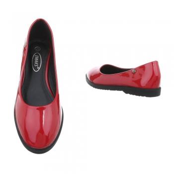 Лачени дамски балерини в червено EMAKS