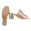 Дамски сандали в цвят шампанско