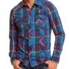 Синя карирана риза Sublevel