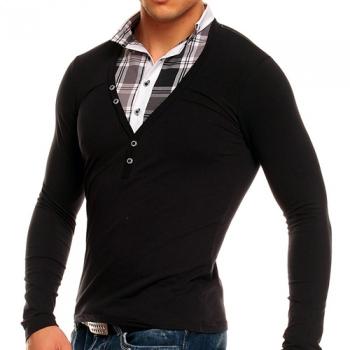 Блуза CHROME цвят черен