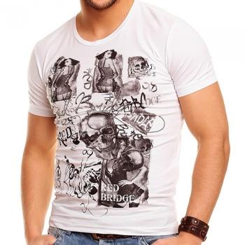 Бяла тениска фънки принт