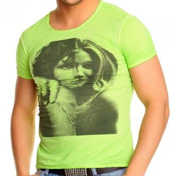 Зелена тениска с тренди принт