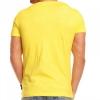 Интензивно жълта тениска с принт