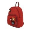 Червена раница с цветен декор