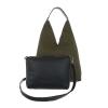 Дамска чанта с ресни в цвят зелен