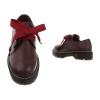 Есенни обувки от еко кожа във винено червено