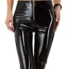 Дамски панталон клин еко кожа в черно Emma&Ashley