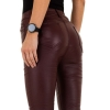 Дамски панталон еко кожа в бордо Daysie