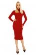 Ежедневна рокля по тялото Shk Paris - червена