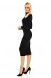 Ежедневна рокля по тялото Shk Paris - цвят черен