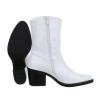 Western ботуши от импрегниран еко лак в бял цвят