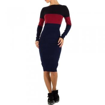 Трицветна рокля Emmash Gr  черно тъмносиньо и червено
