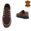 Ежедневни мъжки обувки от естествена кожа в кафяво