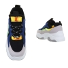 Спортни обувки в синьо с обемиста подметка и металически елементи