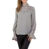 Дамска блуза в сиво с декоративна дантела Emmash Paris
