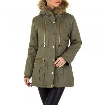 Зимно дамско яке в петроленозелено BySwan