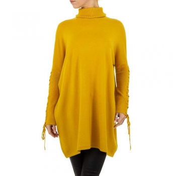 Фин дамски пуловер SHK Paris в жълто