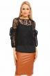 Елегантна дамска блуза Jayloucy в черно
