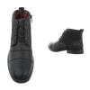 Ежедневни мъжки обувки до глезена в черно