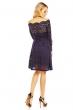 Разкроена дантелена рокля Mayaadi в тъмносиньо