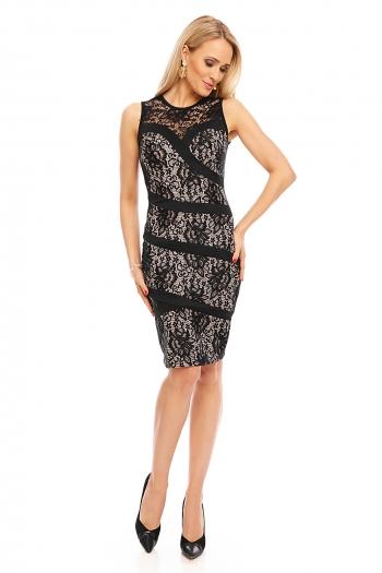 Изискана рокля с черна дантела Esther