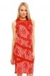 Изискана рокля с червена дантела Esther